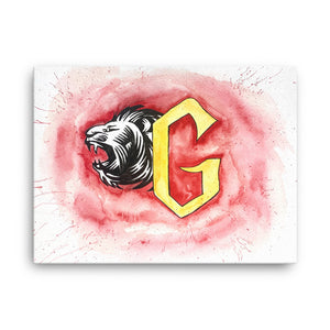 Lion Watercolor Canvas