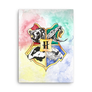 Animal Crest Watercolor Canvas