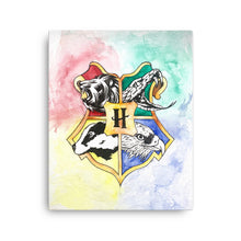 Load image into Gallery viewer, Animal Crest Watercolor Canvas