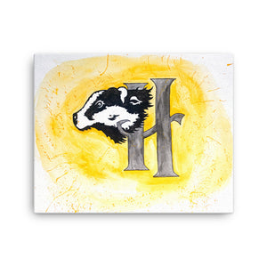 Badger Watercolor Canvas