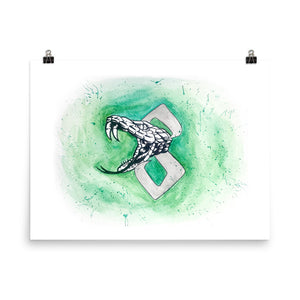 Snake Watercolor Poster