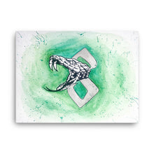 Load image into Gallery viewer, Snake Watercolor Canvas
