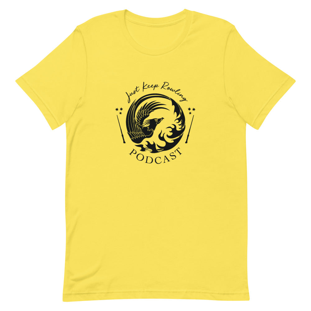 Yellow and Black Just Keep Rowling T-Shirt