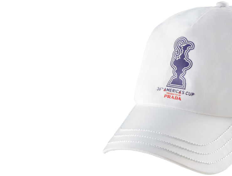 Graphic Baseball Cap - White