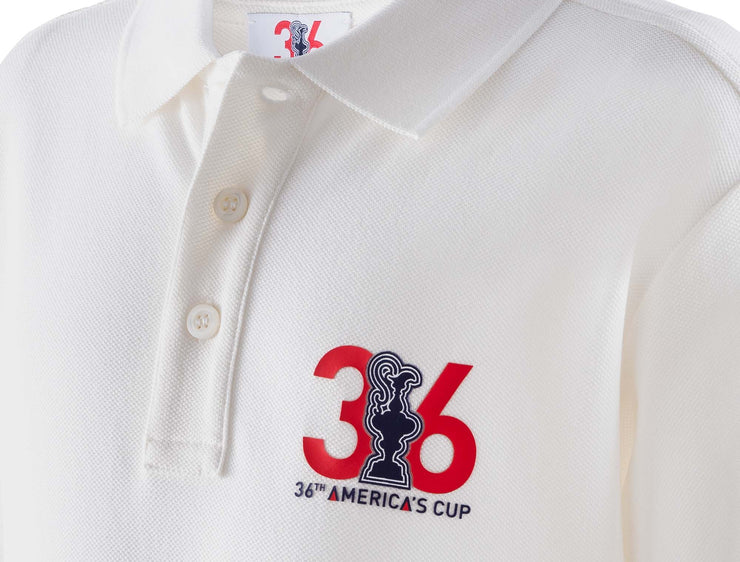 Kids' 36th Edition Polo - White