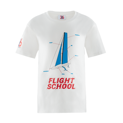 Kids' Flight School Tee - White