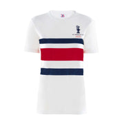 Women's Cup Stripe Top - White