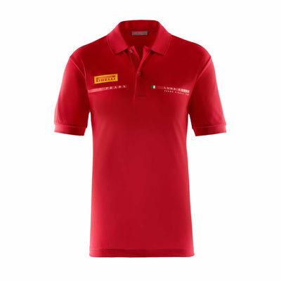 Kids Foil Polo Shirt - Red