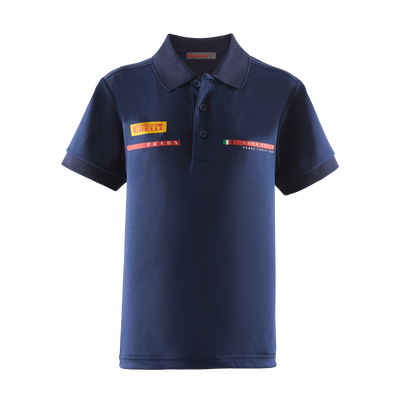 Kids' Foil Polo Shirt - Navy