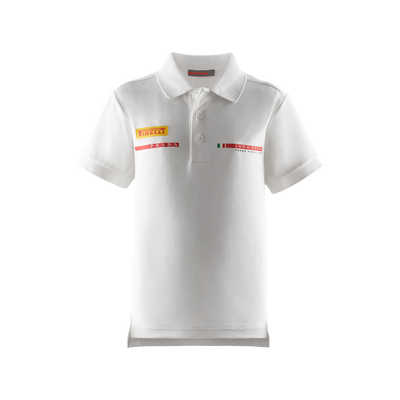 Kids' Foil Polo Shirt - White