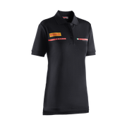 Women's Foil Polo Shirt - Black