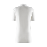 Women's Foil Polo Shirt - White