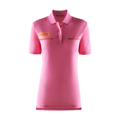 Women's Foil Polo Shirt - Pink