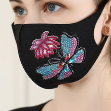 Load image into Gallery viewer, 1 Butterfly and Flower Face Mask