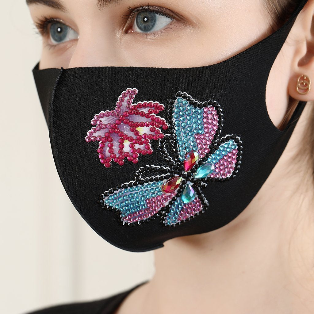 1 Butterfly and Flower Face Mask