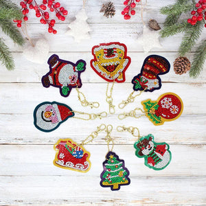 53 - 8pk Christmas Key Chains