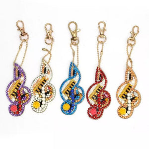 62 - 5pk Music Notes Key Chains