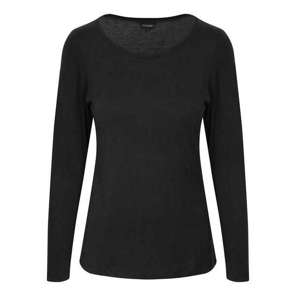 FULL SLEEVE SCOOP NECK IN BLACK
