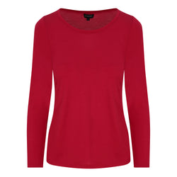 FULL SLEEVE SCOOP NECK IN RED
