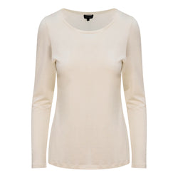 FULL SLEEVE SCOOP NECK IN WHITE