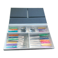 Load image into Gallery viewer, 36 Piece CAPDECO Cutlery Set In A Custom Designer Wooden Box