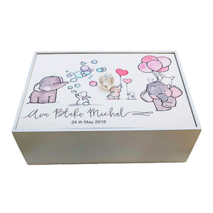 A4 Baby Gift Wooden Box/Girl