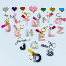 Load image into Gallery viewer, Initial Alphabet Resin Keychains