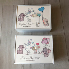 Load image into Gallery viewer, A4 Baby Gift Wooden Box/Girl