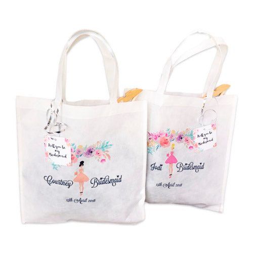 Bridesmaids Personalised Favour Gift Bag