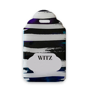 Artzcafe Designer Art Personalised Luggage Tags. New - His Tag No.25