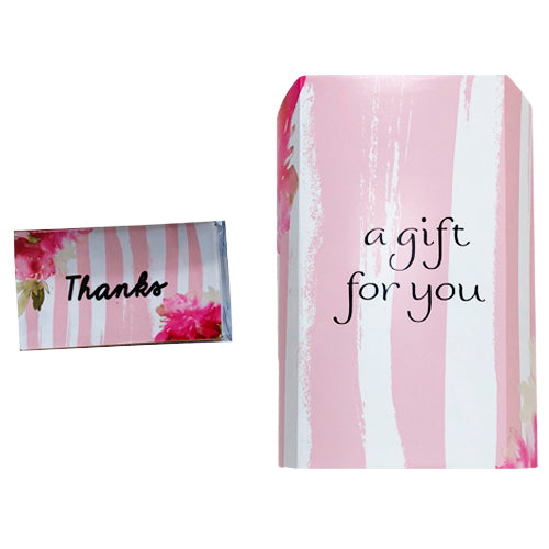 A Gift For You - PVC Word Art Container & Matches To Match