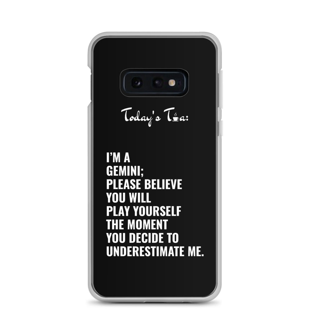 GEMINI TEA: Black Samsung Case