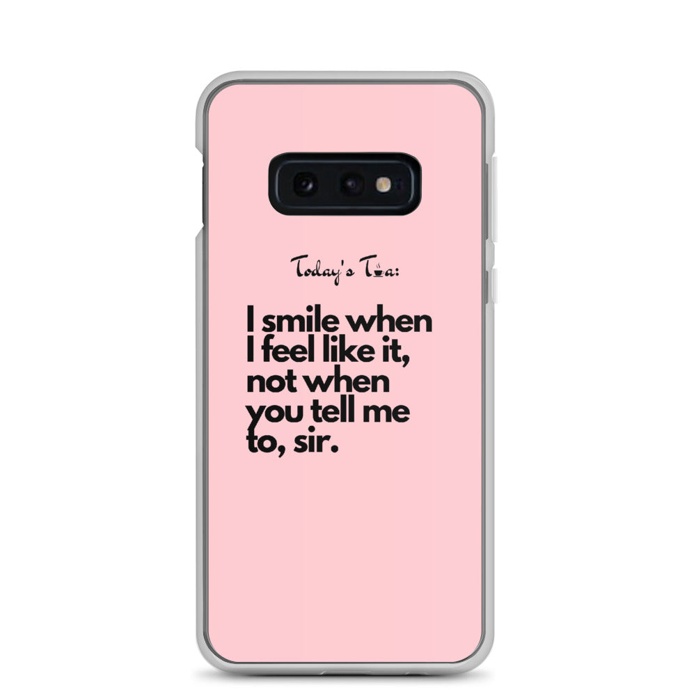 Smiling Tea: Pink Samsung Case