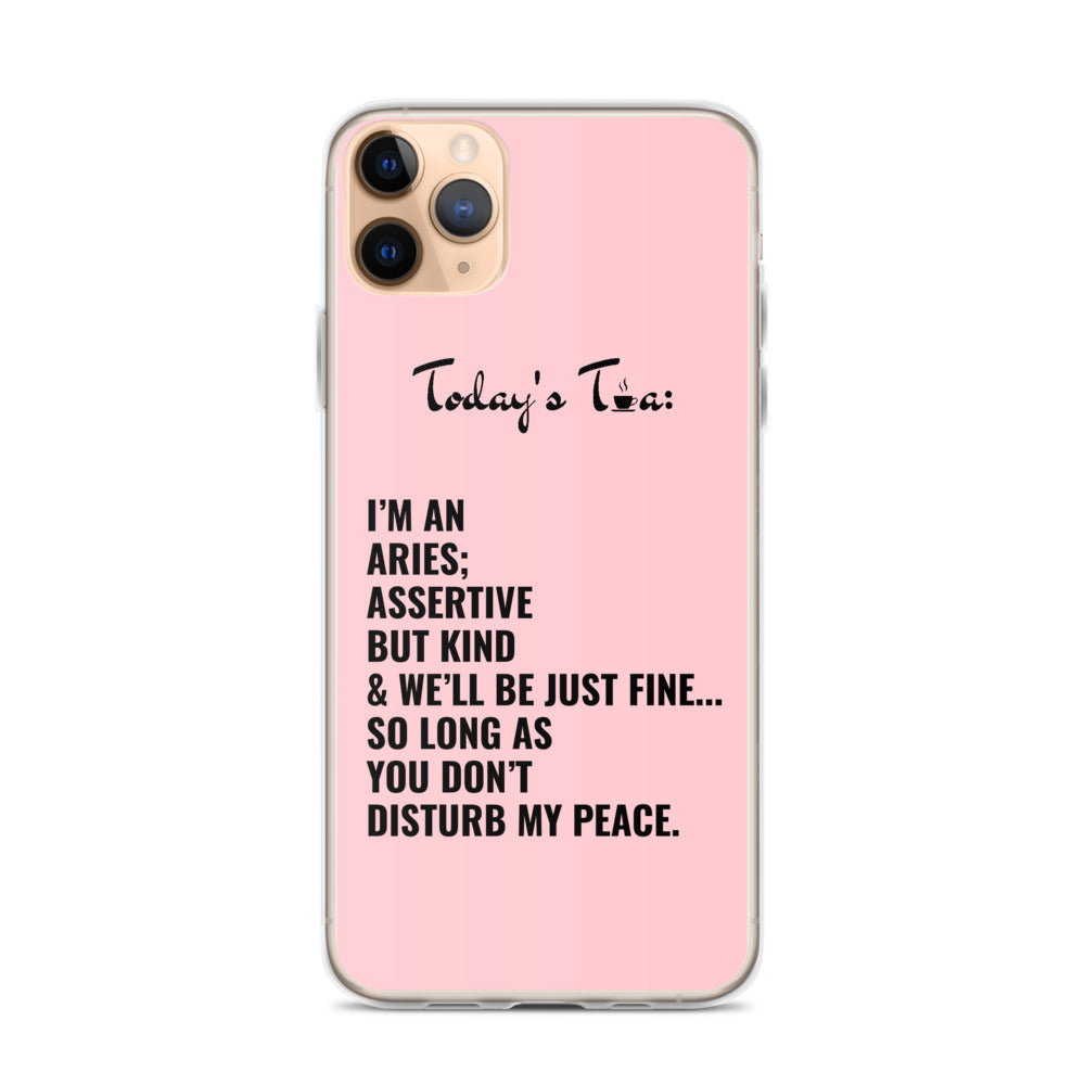 ARIES TEA: Pink iPhone Case