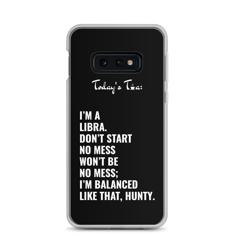 LIBRA TEA: Black Samsung Case