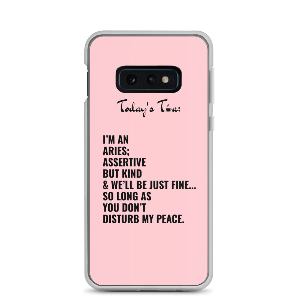 ARIES TEA: Pink Samsung Case