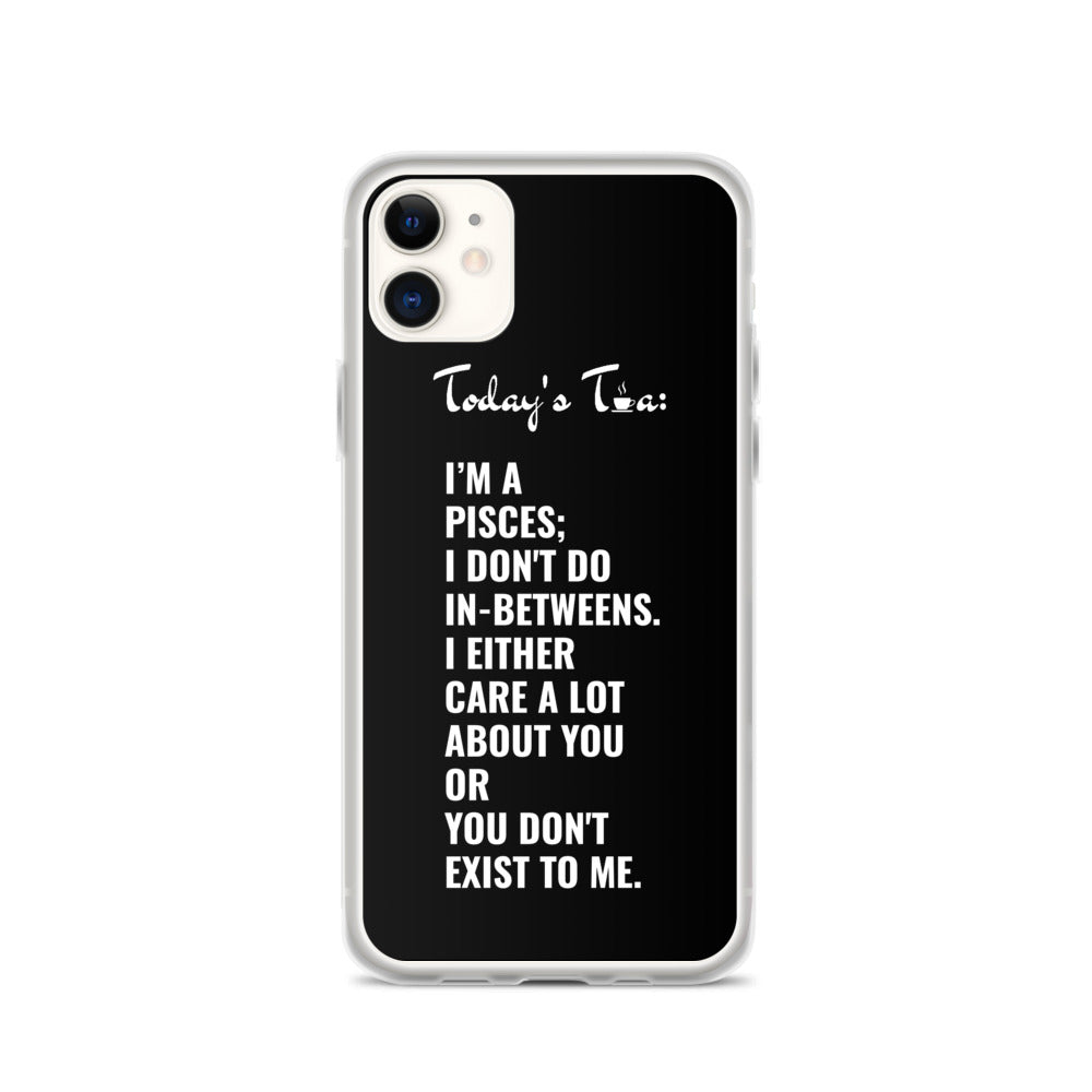 PISCES TEA: Black iPhone Case