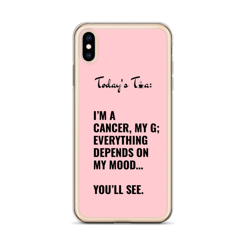 CANCER TEA: Pink iPhone Case