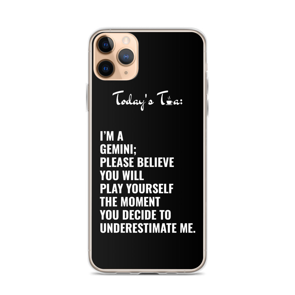 GEMINI TEA: Black iPhone Case