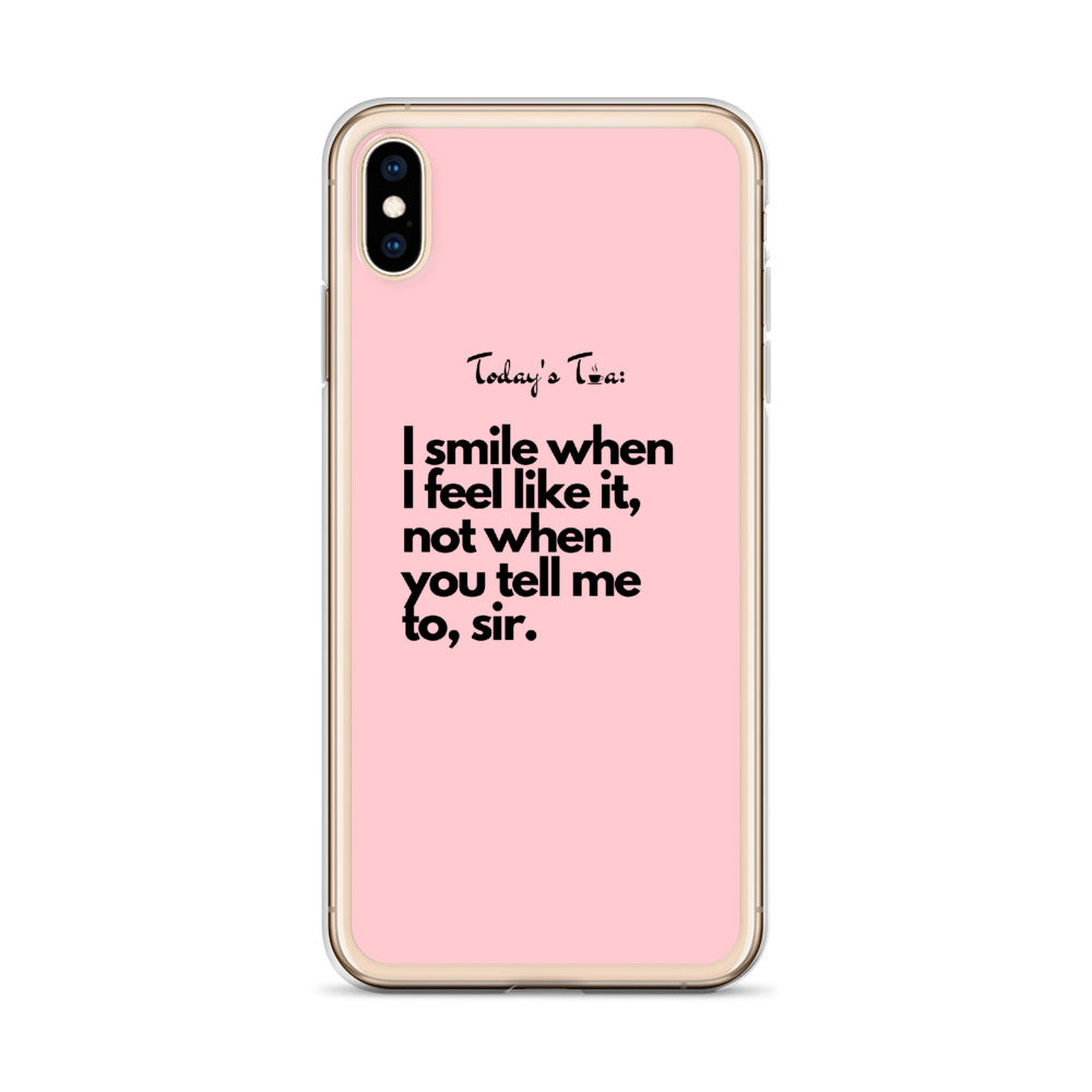 Smiling Tea: Pink iPhone Case