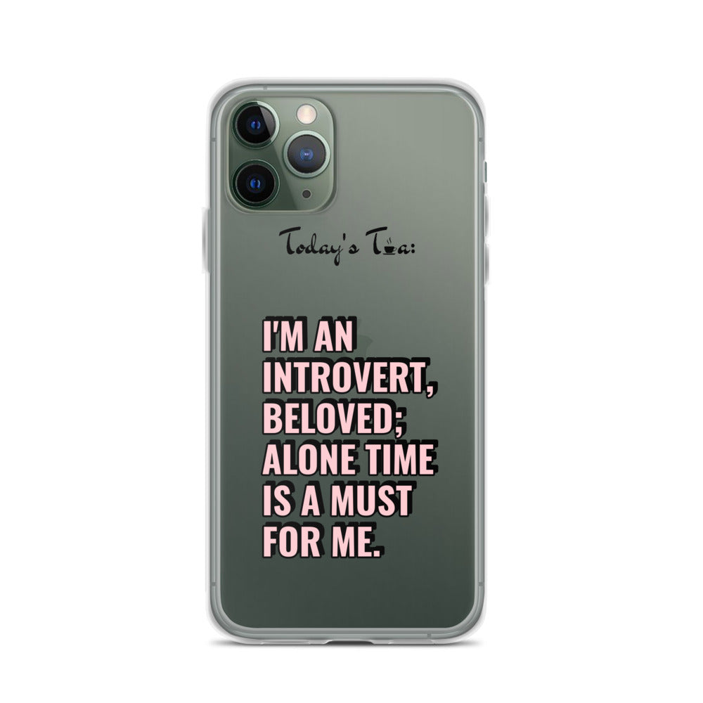 INTROVERT TEA: Clear iPhone Case