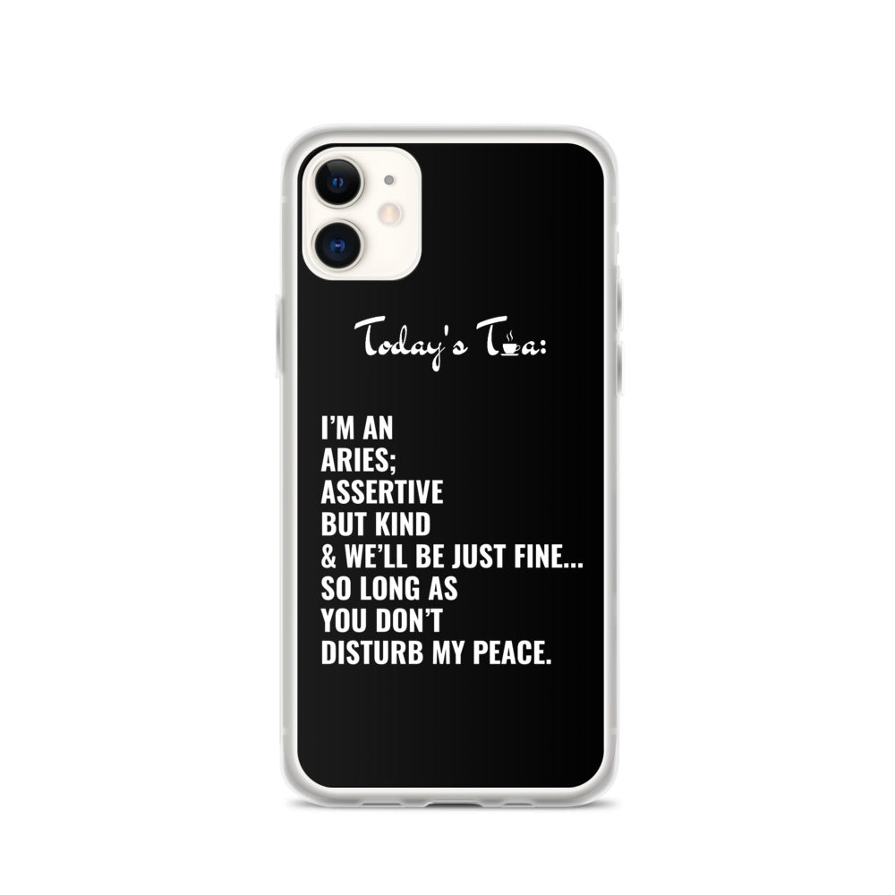 ARIES TEA: Black iPhone Case