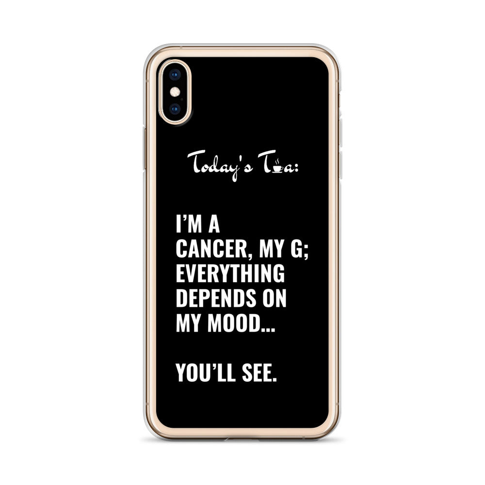 CANCER TEA: Black iPhone Case