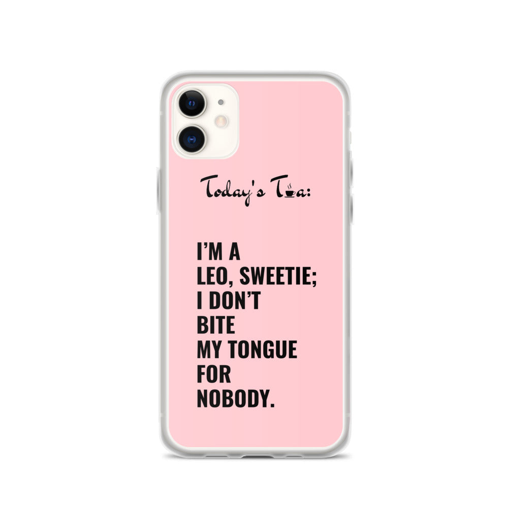 LEO TEA: Pink iPhone Case