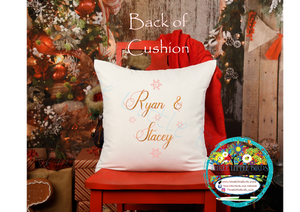 Our First Christmas in our New Home Double Sided Cushion