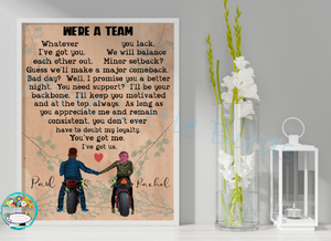 We're A Team - A3 Print - Choice of Design