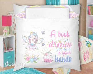 Book Pillow - A Book is a Dream you Hold in your Hands