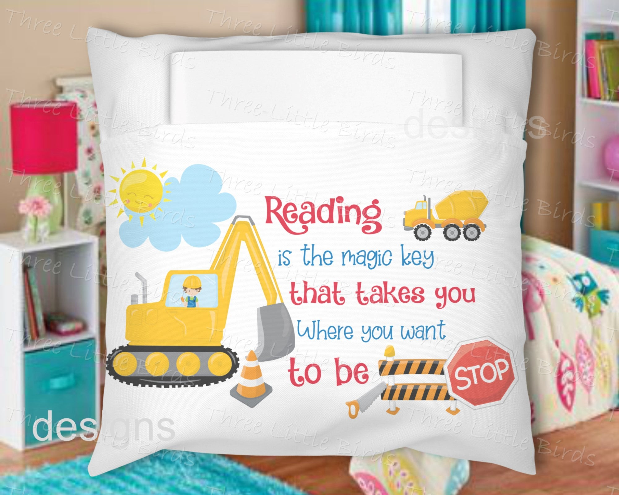 Book Pillow - Construction Theme