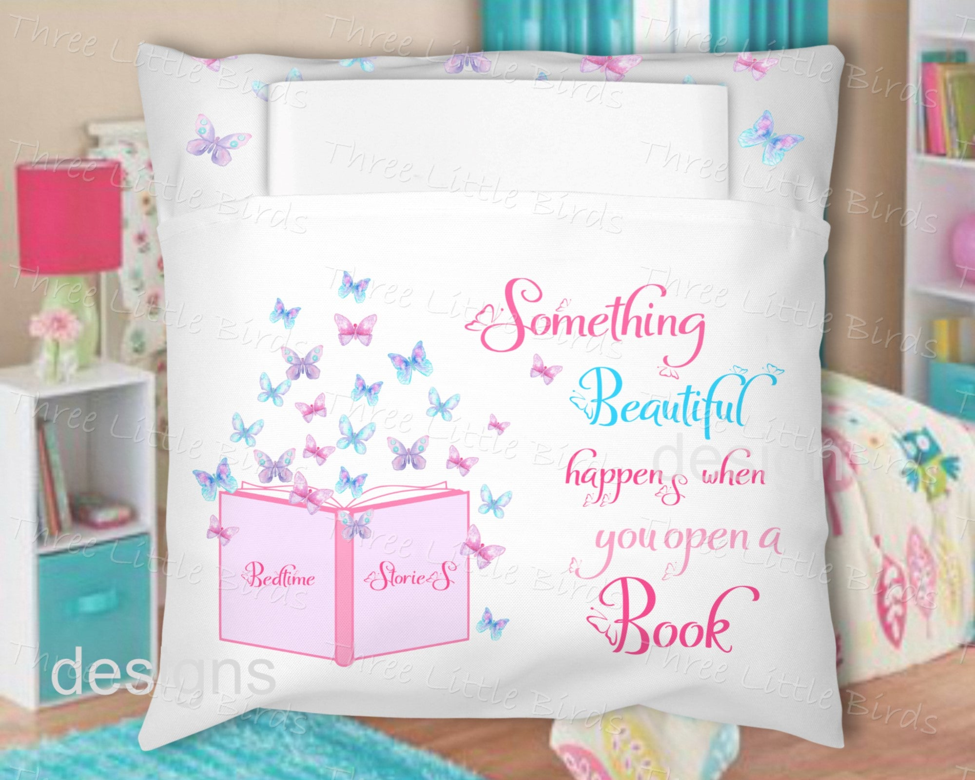 Book Pillow - Butterfly
