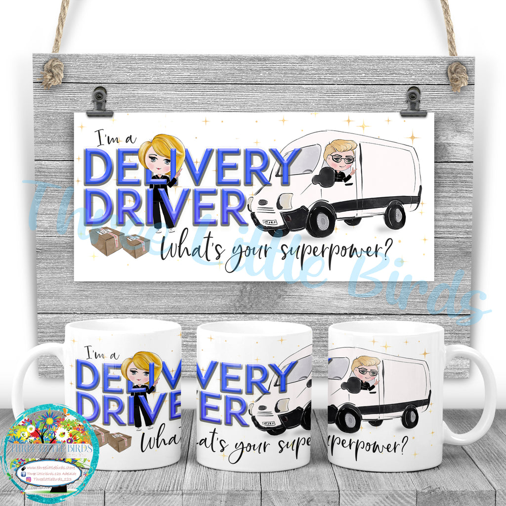 Delivery Driver Superpower Mug